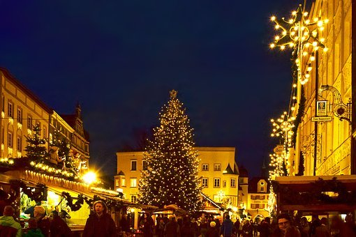 Christmas Market, Christmas Tree, Star, Christmas