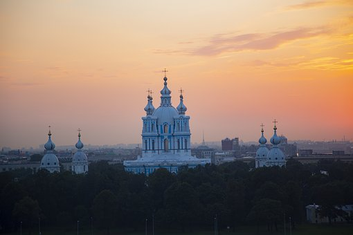 Cathedral, Sunset, N, Church, Architecture, City