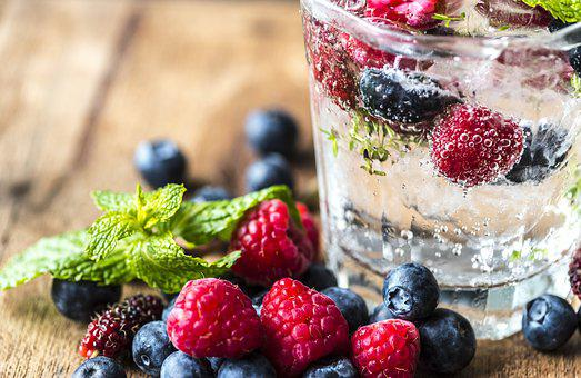 Antioxidant, Beverage, Blueberry, Closeup, Cold Water