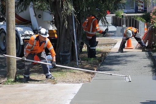 Concrete, Construction, Concreting, Building, Gray