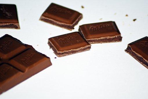Chocolate, Cubes, Spent, Dark Chocolate, Mil, Dessert