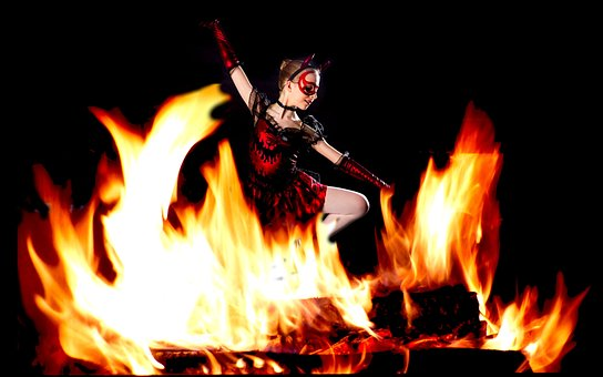 Devil, Fire, Dance, Ballet, Celebration, Dark, People