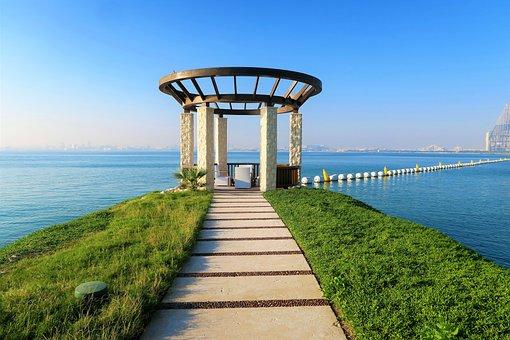 Marine, Canopy, Cruise, Sky, Travel, Qatar, Doha, Blue
