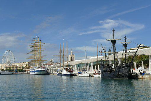 Málaga, Port, Andalusia, Spain, Ferris Wheel