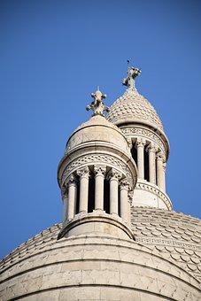 Towers, Sacré Cœur, Paris, France, Basilica, White