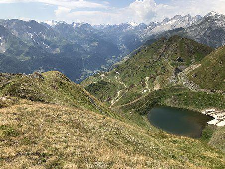 Bedretto Valley, From The Lace Canariscio, Alpine Route