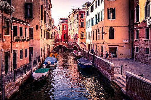 Italy, Venice, Water, Channel, Architecture, Gondola