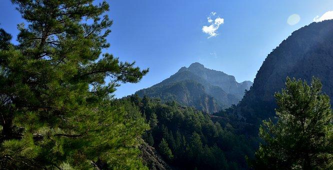 The Samaria Gorge, Crete, Gorge, Mountains, Greece