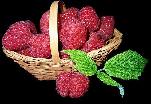 Fruit, Raspberries, Fresh, Healthy, Food, Basket