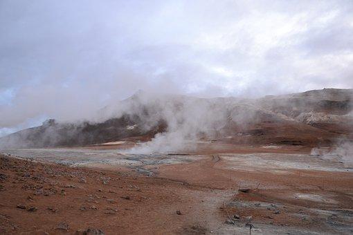 Hot Springs, Landscape, Iceland, Nature, Couple