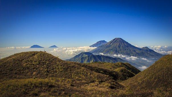 Mount Prau, Indonesia, Mountain, Nature, Landscape