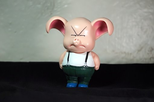 Young, Male, Pig, Animal, Domesticated, Toy, Figurine