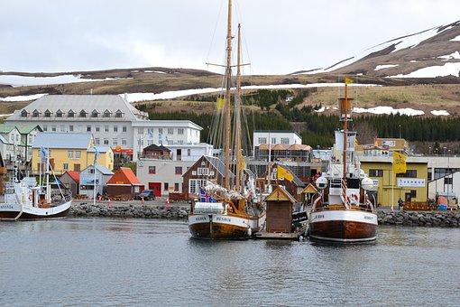Iceland, Marina, Ships, Boats, Ship, Sea, Port, Boat