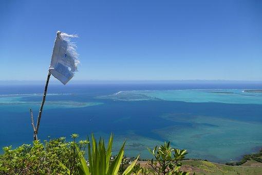 Mauritius, Lion Mountain, Viewpoint, Head, Sea, Reef