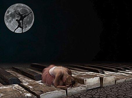 Moon, Moonlight, Creative, Artistic, Beauty, Love