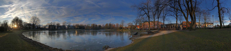 Breda, Pond, Nature, Water, Winter, Landscape