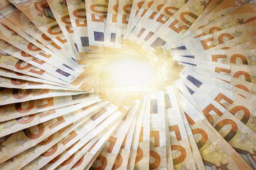 Money, Bank Note, Euro, Close Up, Seem, Paper Money