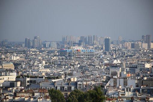 Paris, Scape, Pompidou, Center, Montmartre, France