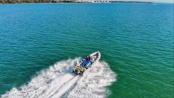 Fast Boat, Speed Boat, Powerboat, Rib, Speed, Summer