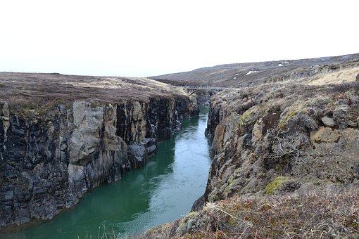 Iceland, Landscape, River, Nature, Water