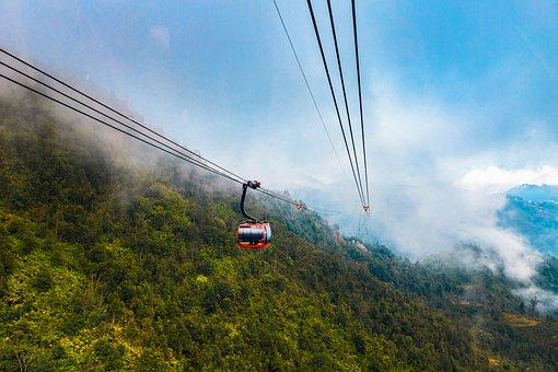 Sapa, Vietnam, Travel, Cable Car, Fanxipan, Cable Cars