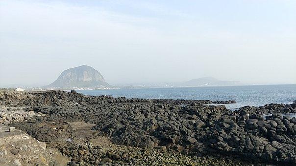 Republic Of Korea, Jeju Island, Sea, Landscape, Jeju
