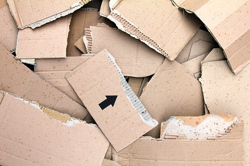 Corrugated Cardboard, Sheets, Torn Paper, Packaging