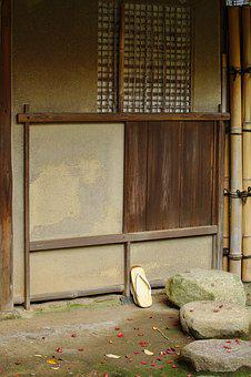 Japan, Kyoto, Tea House, Simply, Stones, Wooden Shoes