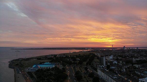 Southsea, Portsmouth, Sea, England, Ocean, Travel, Sky