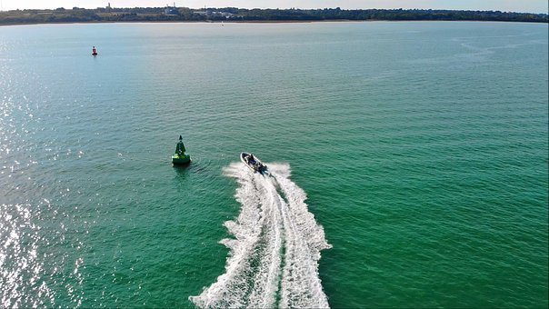 Speed Boat, Rib, Sea, Coastline, Boats