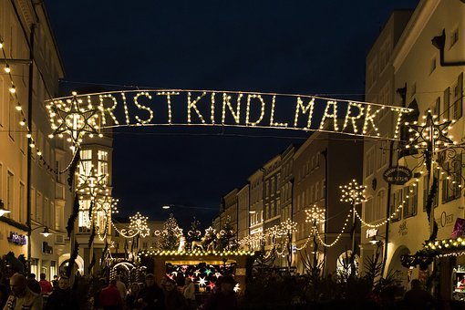 Christmas Market, Star, Christmas, Lighting, Advent