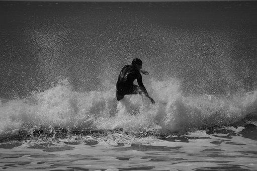 Surf, Surfer, Sea, Mar Del Plata, Landscape, Summer