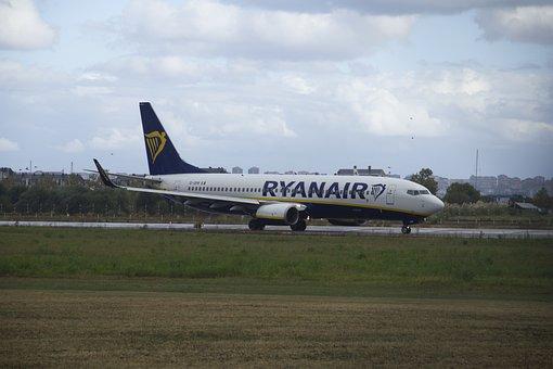 Plane, Ryanair, Travel, Transport, Boeing