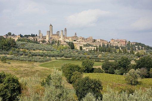 Landscape, Tuscany, Tourism, Saint Gimignano, Italy