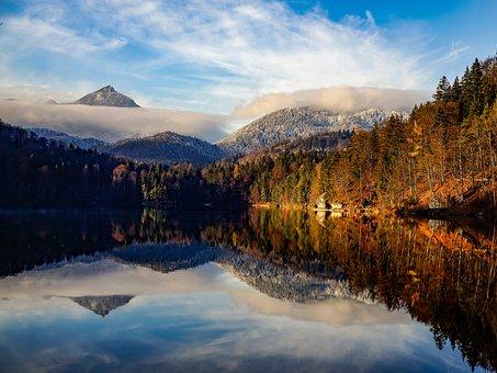 Tyrol, The Hechtsee, Kufstein, Mirroring, Landscape