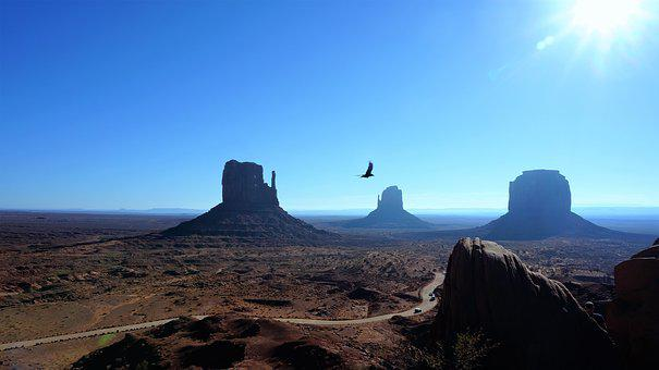 Monument Valley, Blue Sky, America, Utah, Sand