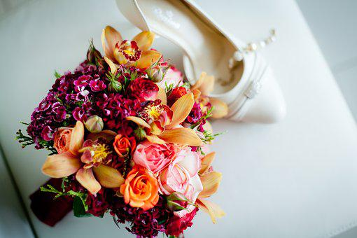 Wedding Bouquet, Wedding, Shoe