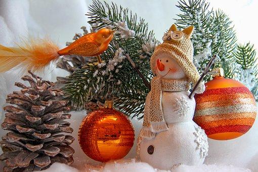 Christmas, Decoration, Advent, Snowman, Figure