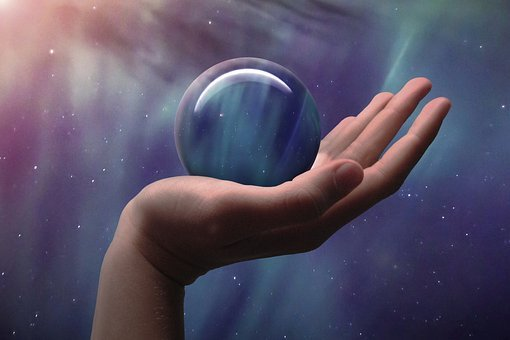Universe, Glass Ball, Hand, Stars, Aurora, Globe, Ball