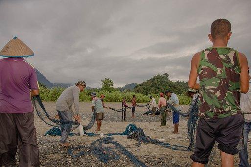 Traditional, Beach, Travel, Sea, Fishing, Asia, Island