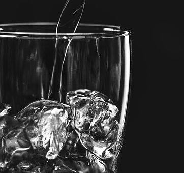 Aqua, Beverage, Black, Black And White