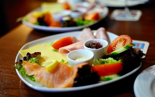 Breakfast, Breakfast Plate, Restaurant, Eat, Sausage