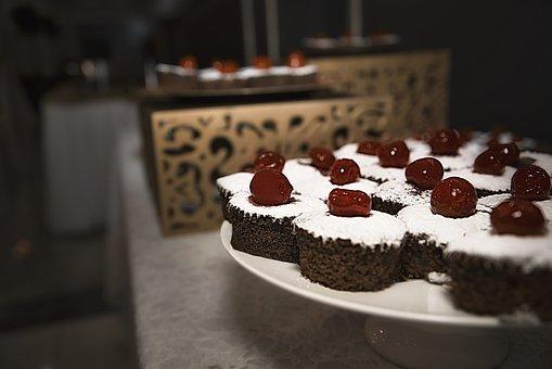 Snacks, Cupcake, Cake, Cherry, Party, Birthday
