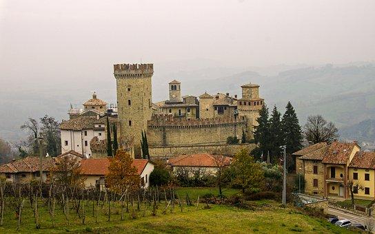 Castle, Fortress, Medieval Village, Vigoleno, Borgo