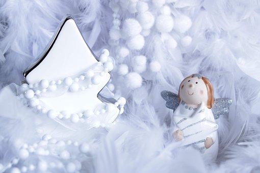 Christmas Background, Angel, Figure, Snow, Angel Figure