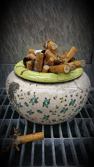 Smoking, Ashtray, Cigarettes, Cigarette End, Tilt