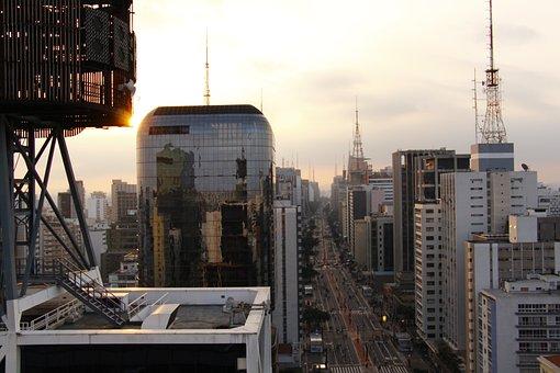São Paulo, Sao Paulo, City, Sunset, Eventide, Horizon