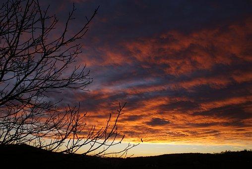 Evening, Clouds, Sunset, Abendstimmung, Afterglow