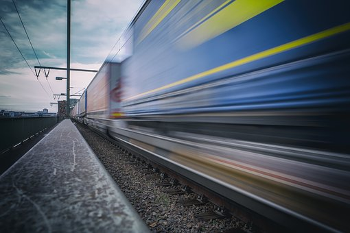 Color, Unreal, Art, Fantasy, Edited, Speed, Train