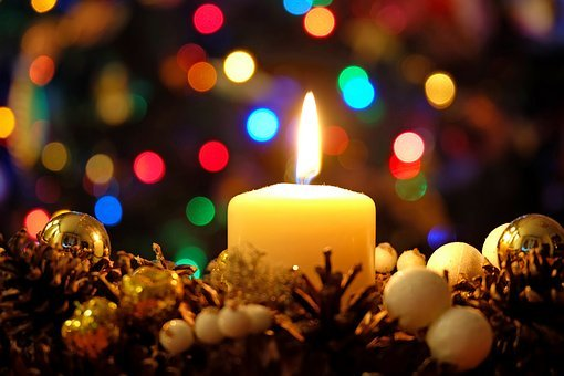 Candle, Holidays, The Flame, Night, Decoration, Winter